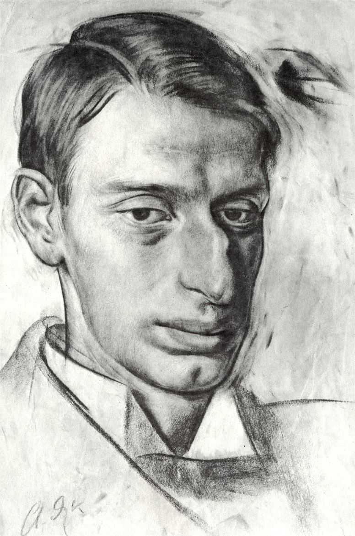 Portrait of Nikolay Radlov - Alexandre Jacovleff