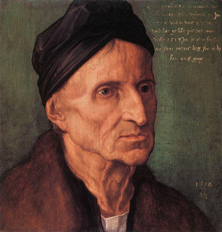 Portrait of Nuremberger Painter Michael Wolgemut - Albrecht Durer