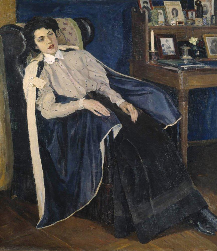 Portrait of O. M. Nesterova, the artist's daughter - Mikhail Nesterov