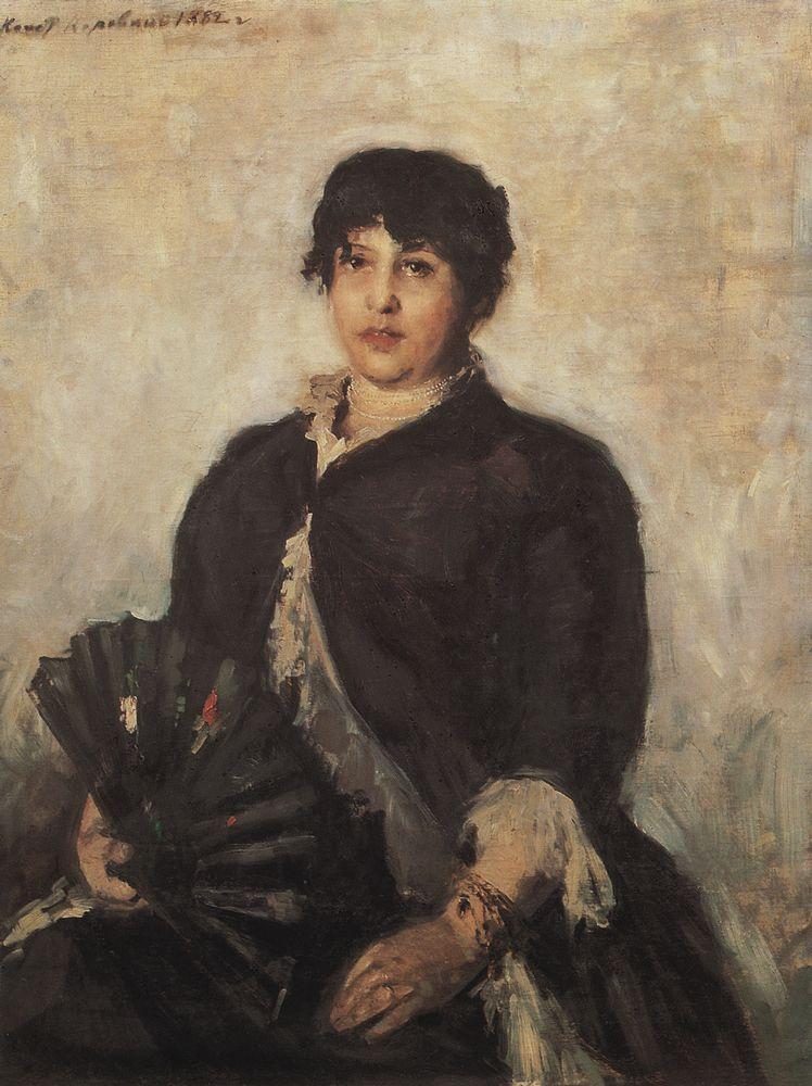 Portrait of Olga Alyabyeva - Konstantin Korovin