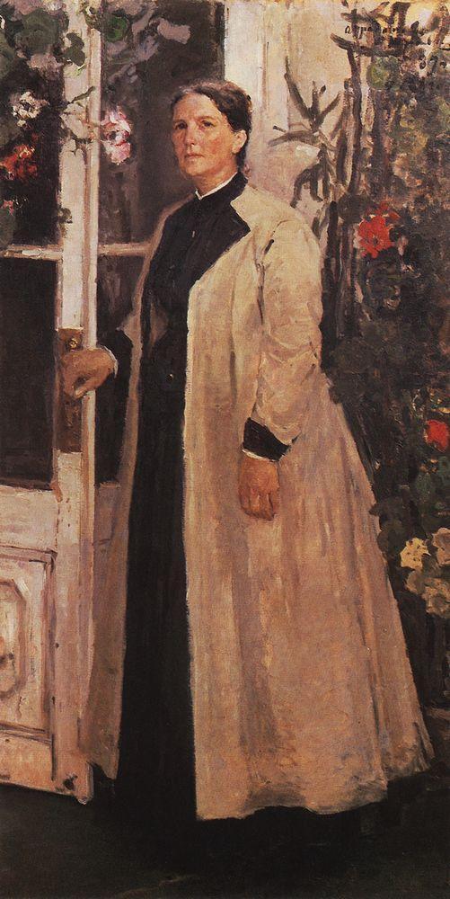 Portrait of Olga Orlova - Konstantin Korovin