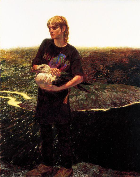 Portrait of Orca Bates - Jamie Wyeth