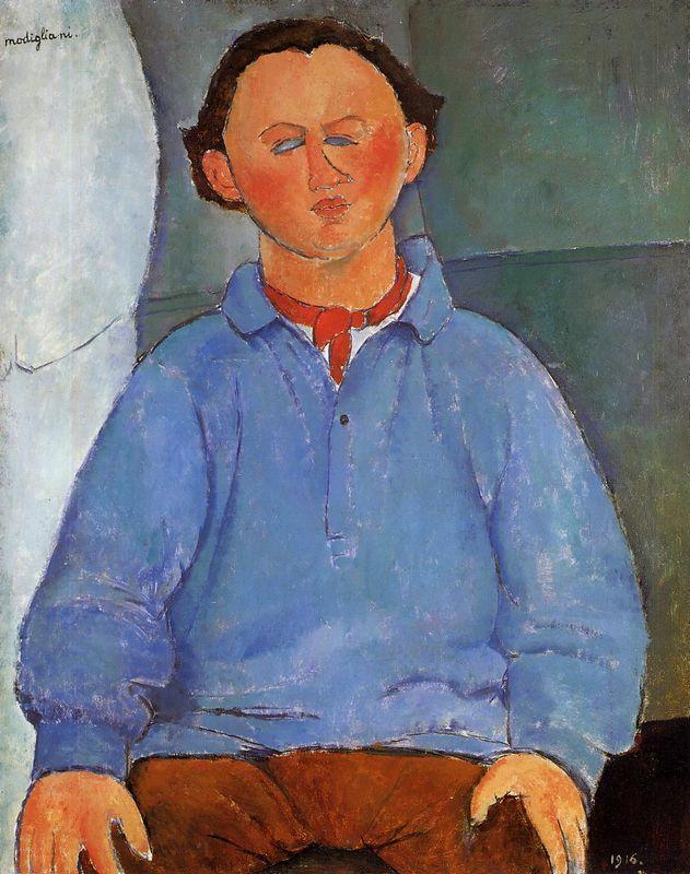 Portrait of Oscar Miestchanioff - Amedeo Modigliani