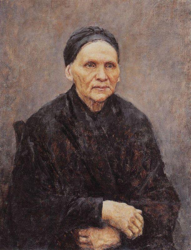 Portrait of P. F. Surikova (Artist's Mother) - Vasily Surikov