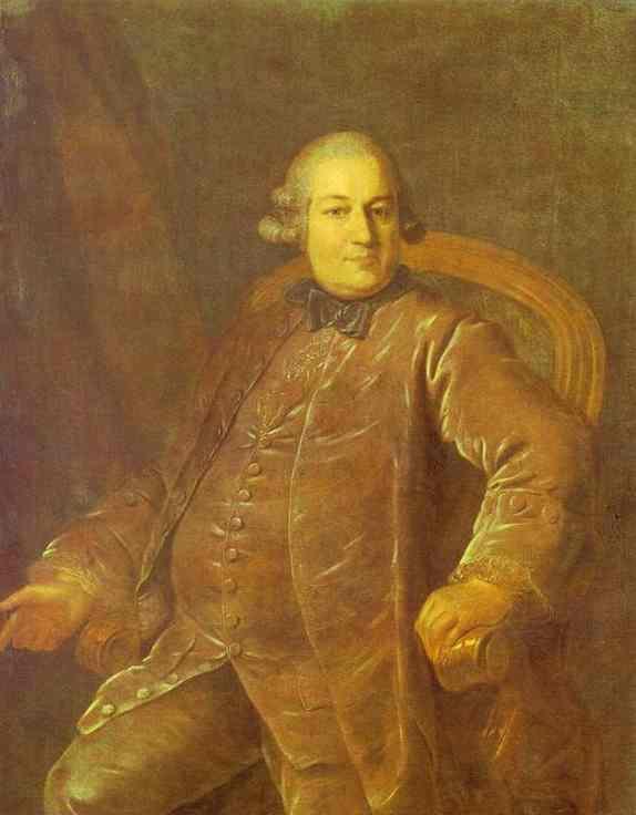 Portrait of P.I.Vyrubov - Fyodor Rokotov