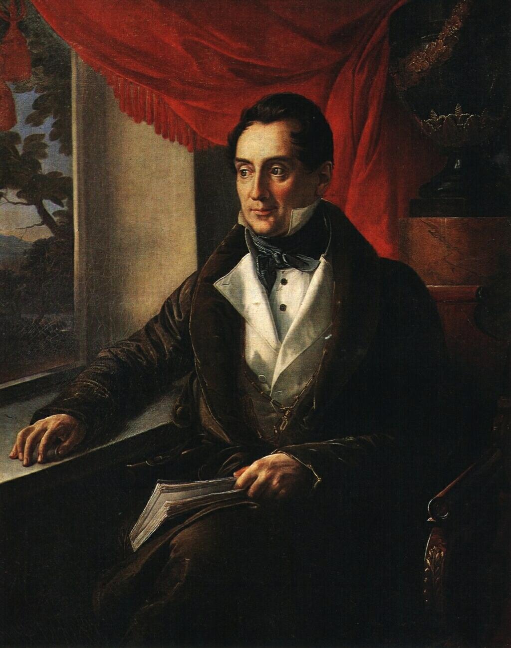 Portrait of P. N. Zubov - Vasily Tropinin
