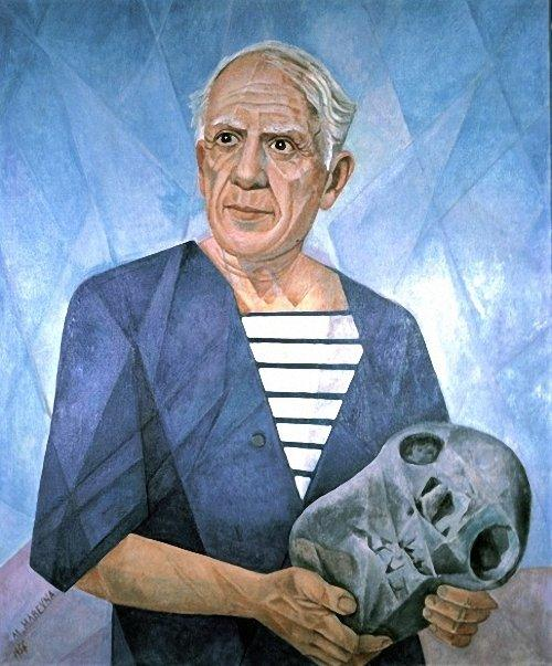Portrait of Pablo Picasso - Marevna (Marie Vorobieff)