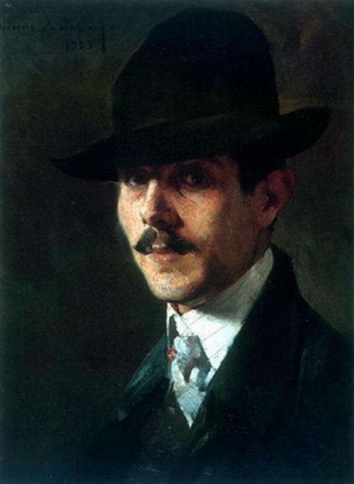 Portrait of painter Oumvertos Argyros - Nikolaos Lytras