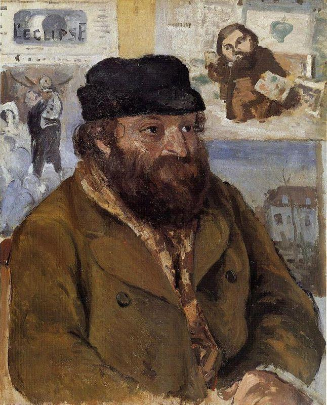 Portrait of Paul Cezanne - Camille Pissarro