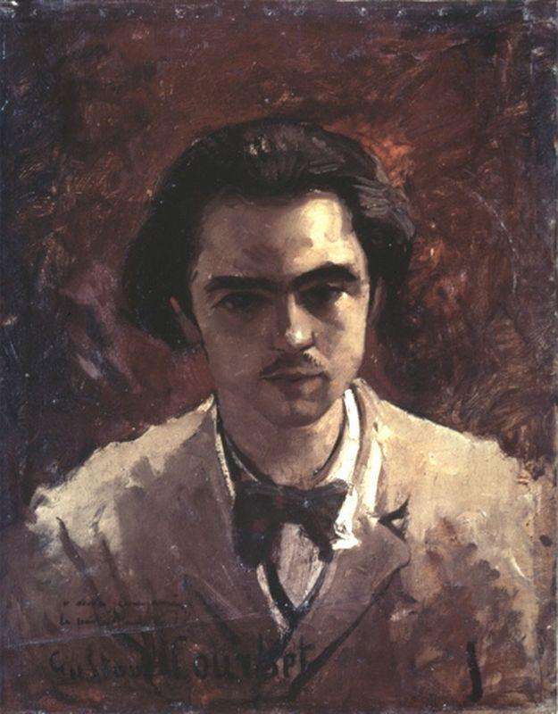 Portrait of Paul Verlaine - Gustave Courbet