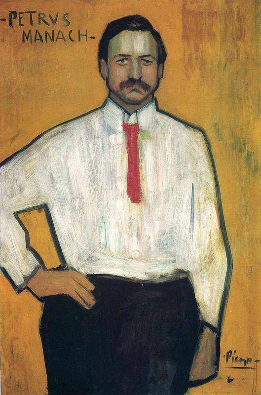 Portrait of Petrus Manach - Pablo Picasso