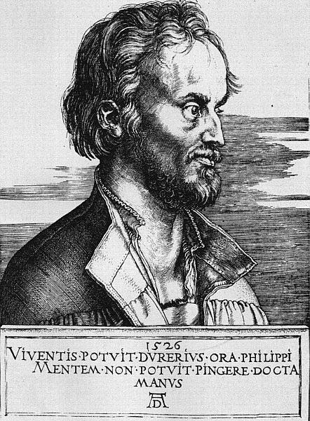 Portrait of Philipp Melanchthon - Albrecht Durer