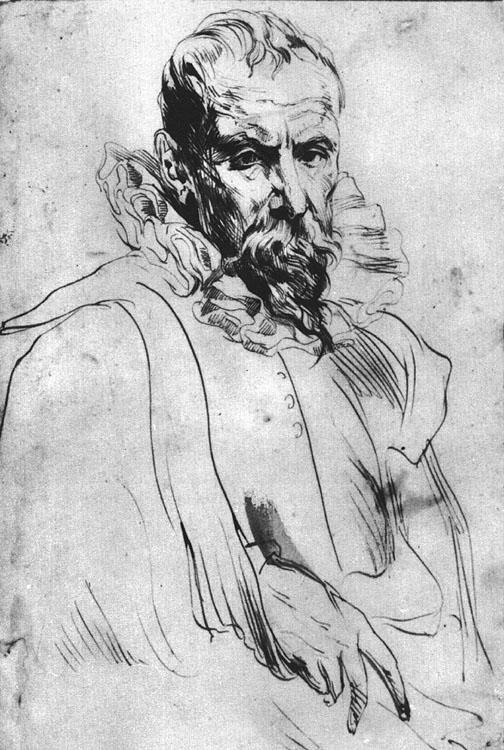 Portrait of Pieter Bruegel the Younger - Anthony van Dyck