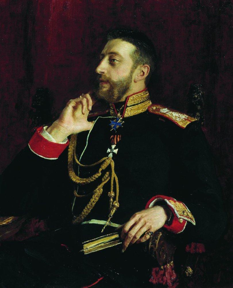 Portrait of poet Grand Prince Konstantin Konstantinovich Romanov - Ilya Repin