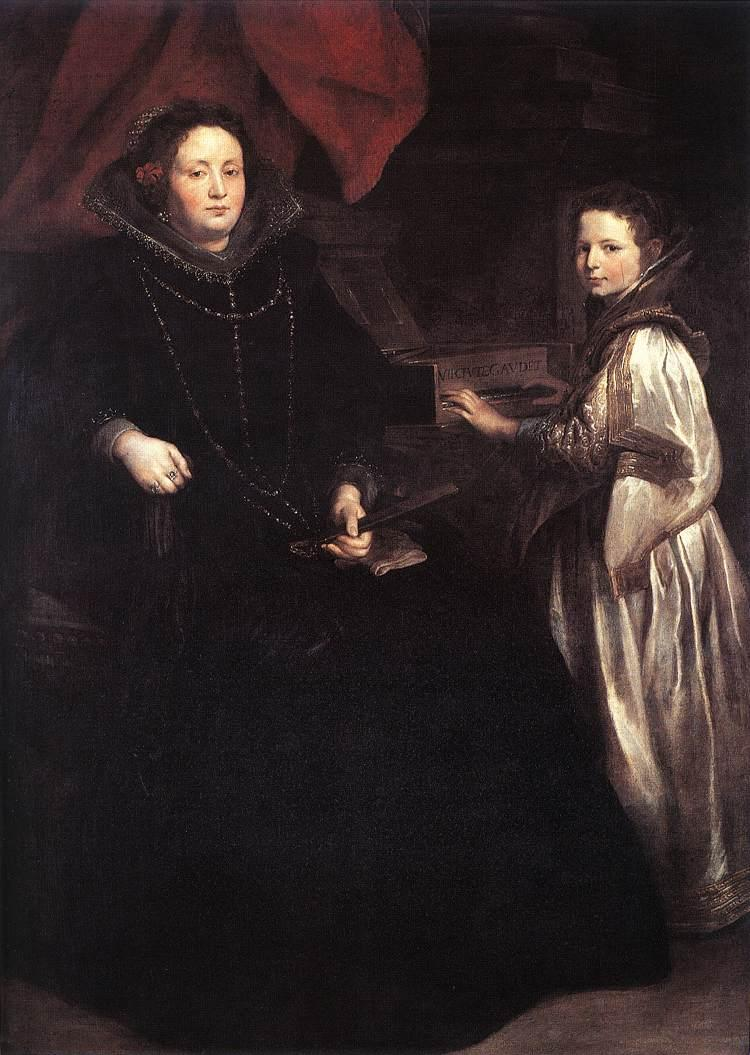 Portrait of Porzia Imperiale and Her Daughter - Anthony van Dyck