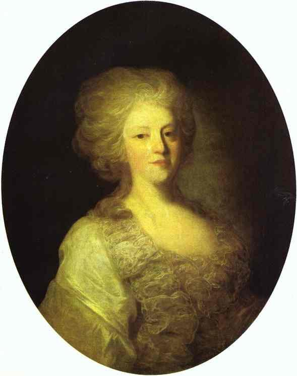 Portrait of Praskovya Nikolayevna Lanskaya - Fyodor Rokotov