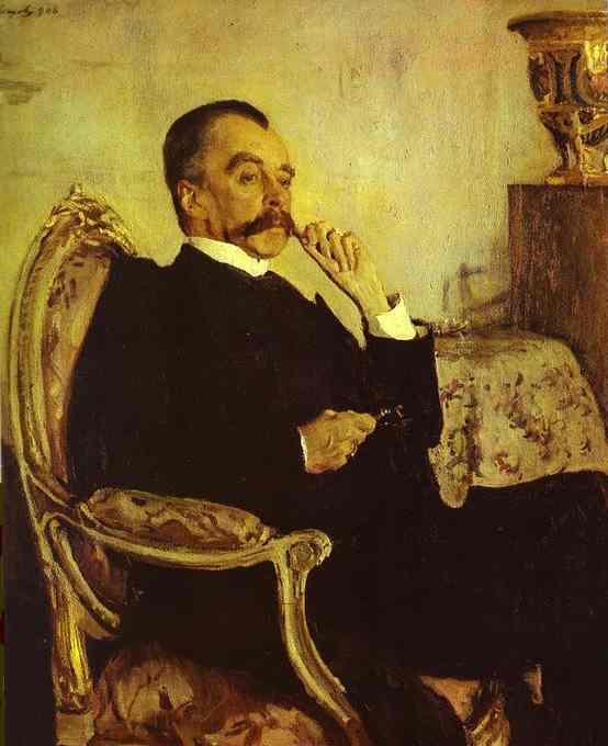 Portrait of Prince Vladimir Mikhailovich Golitsyn - Valentin Serov