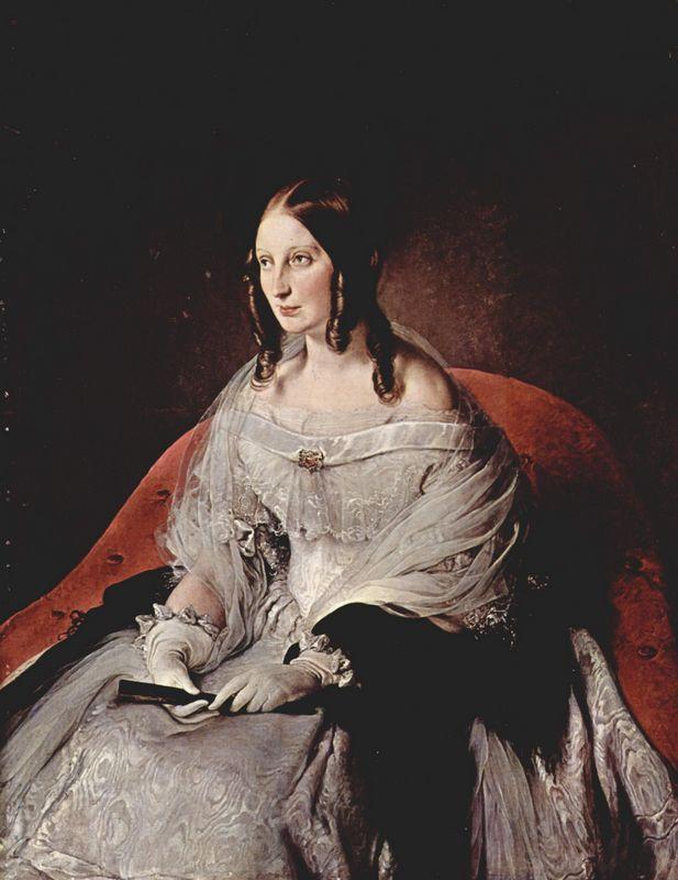 Portrait of Princess Di Sant 'Antimo - Francesco Hayez