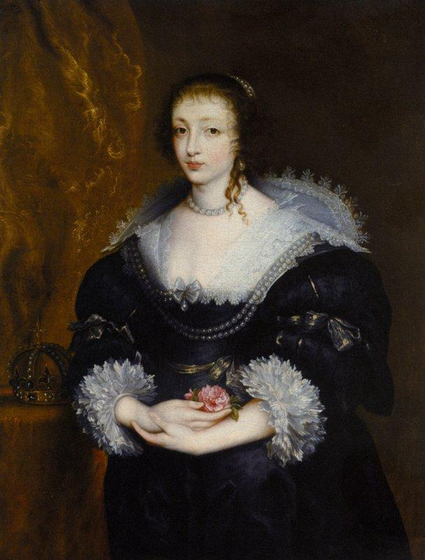 Portrait of Queen Henrietta Maria - Anthony van Dyck