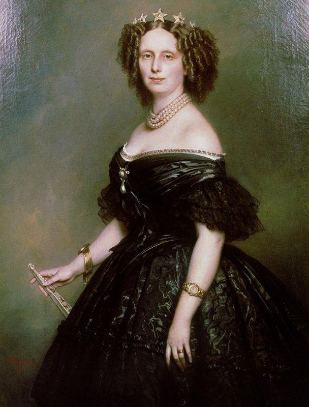 Portrait of Queen Sophie of Netherlands, born Sophie of Wurttemberg - Franz Xaver Winterhalter