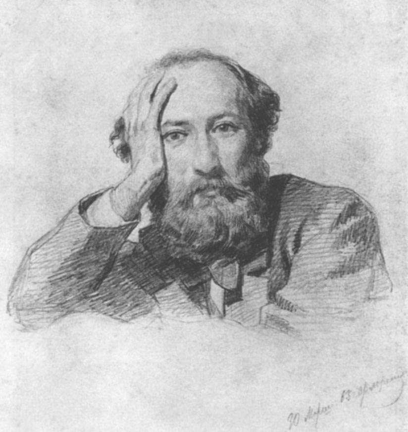 Portrait of Russian baritone opera singer Gennady Kondratiev - Nikolai Ge