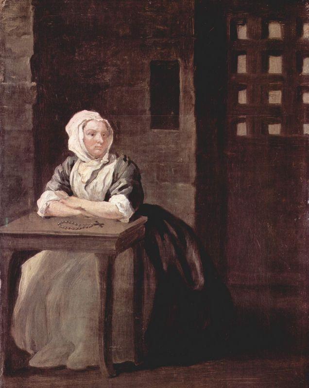Portrait of Sarah Macholm in Prison - William Hogarth