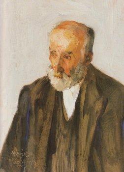 Portrait of Sculptor Yannoulis Chalepas - Nikolaos Lytras