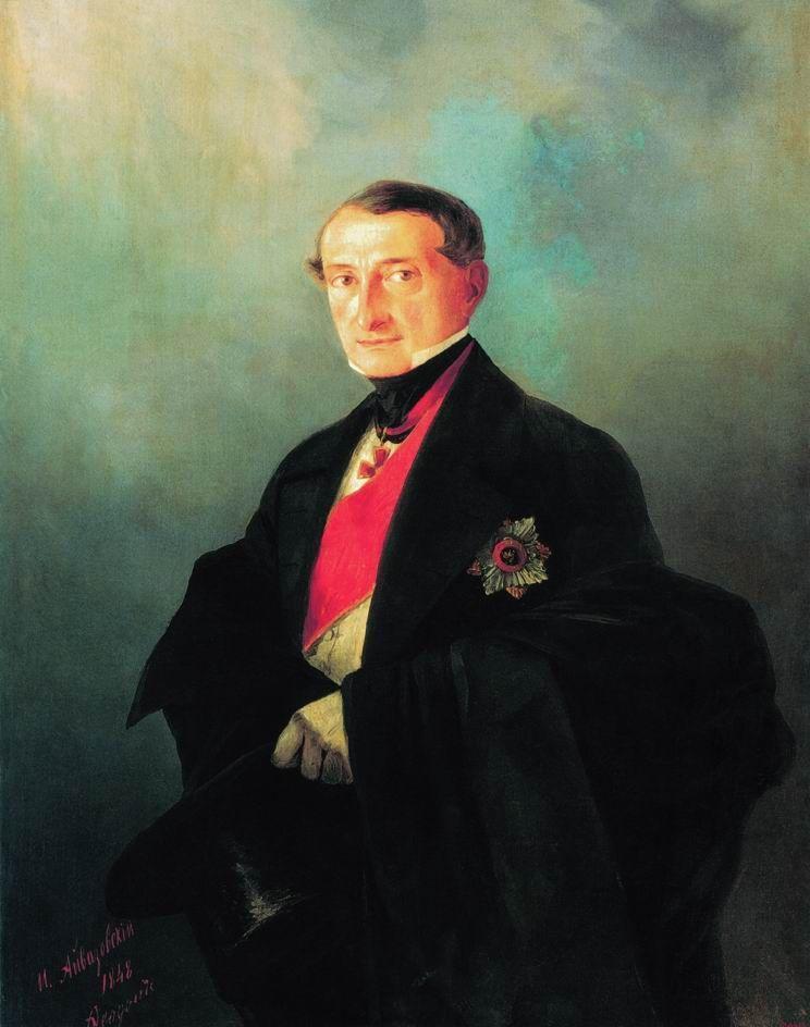 Portrait of Senator Alexander Ivanovich Kaznacheyev - Ivan Aivazovsky