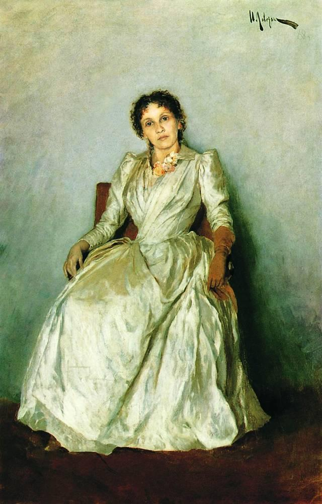 Portrait of Sofia Petrovna Kuvshinnikov - Isaac Levitan