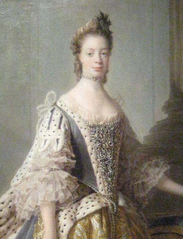Portrait of Sophia Charlotte of Mecklenburg-Strelitz, wife of King George III - Allan Ramsay