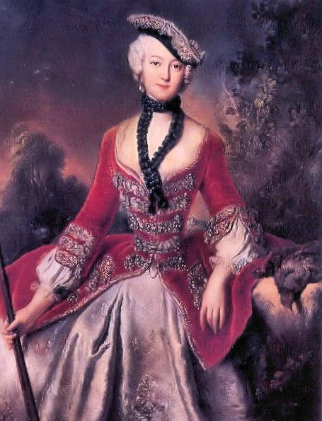 Portrait of Sophie Marie Grafin Voss - Antoine Pesne