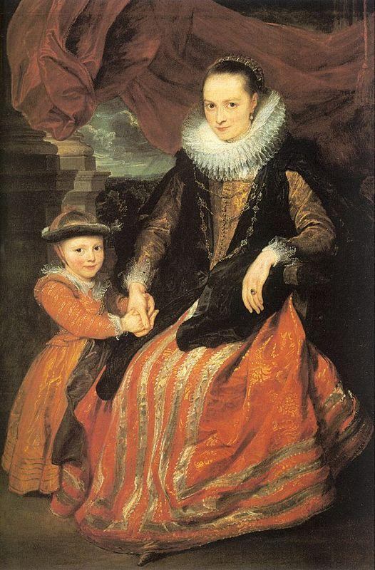 Portrait of Susanna Fourment and Her Daughter - Anthony van Dyck