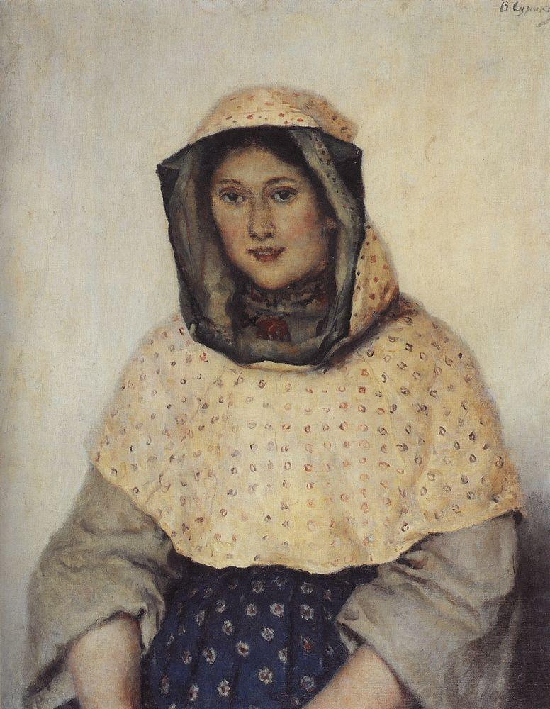 Portrait of T. K. Domozhilova - Vasily Surikov