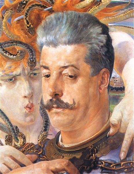 Portrait of Tadeusz Blotnicki with Medusa - Jacek Malczewski