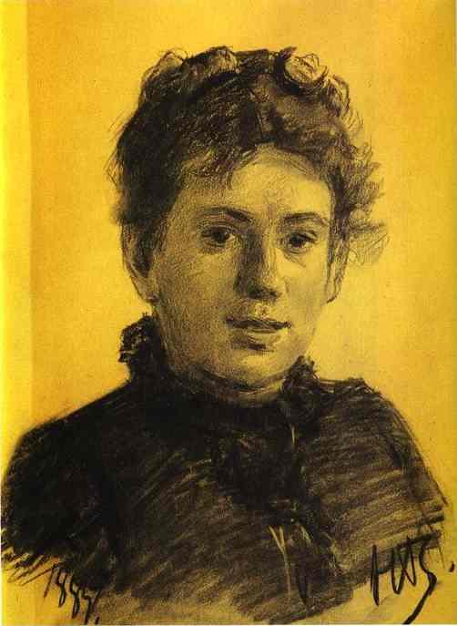 Portrait of Tatyana Tolstaya, Leo Tolstoy's Daughter - Nikolai Ge