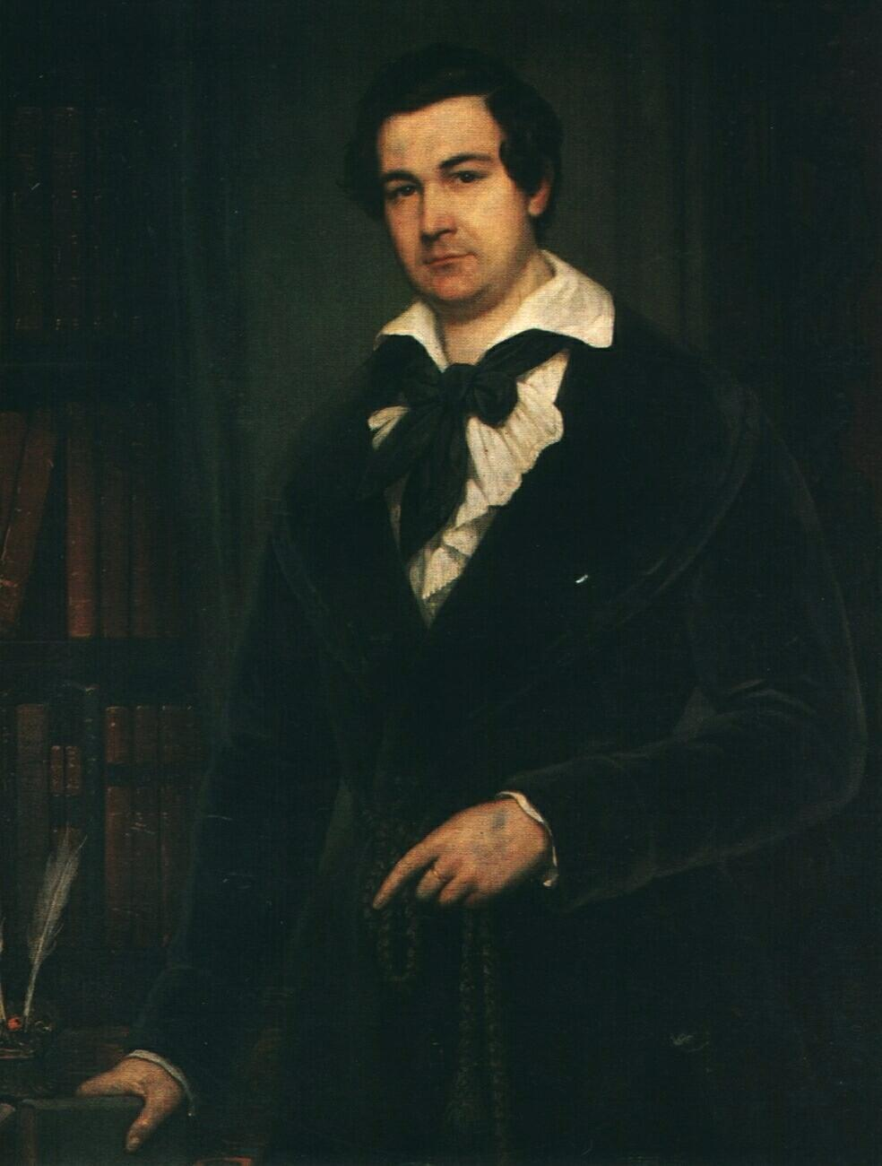 Portrait of the Actor V. A. Karatyghin - Vasily Tropinin