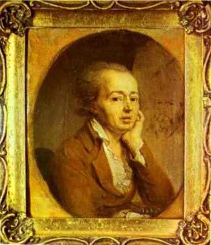 Portrait of the Artist Dmitry Levitzky - Vladimir Borovikovsky