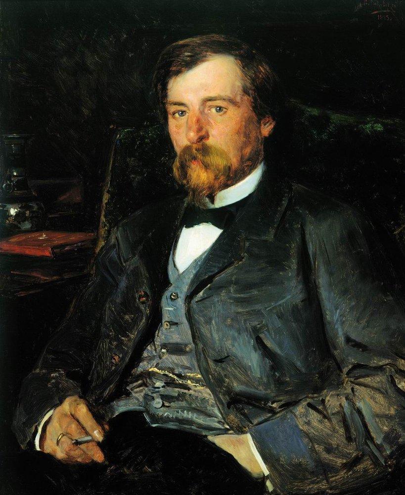 Portrait of the Artist Illarion Mikhailovich Pryanishikov - Vladimir Makovsky