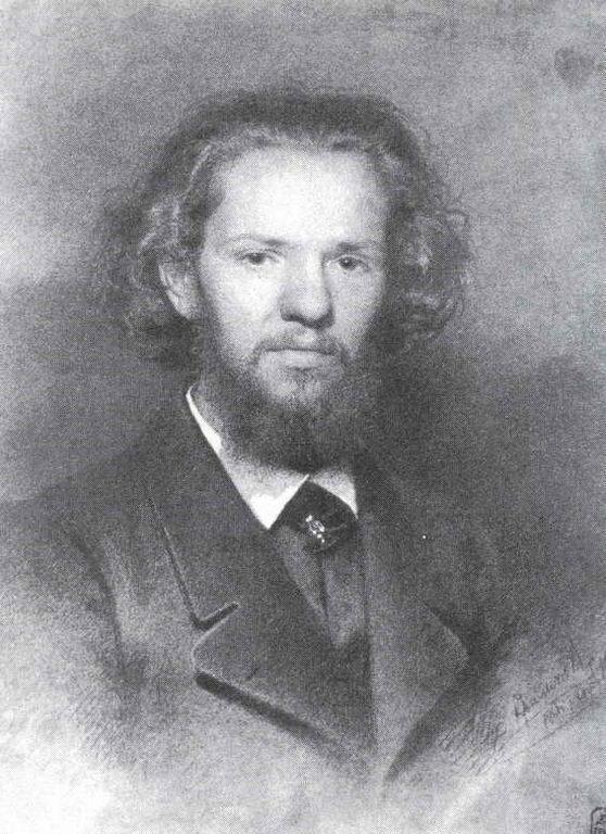 Portrait of the Artist Johann Gottlieb Wenig - Ivan Kramskoy