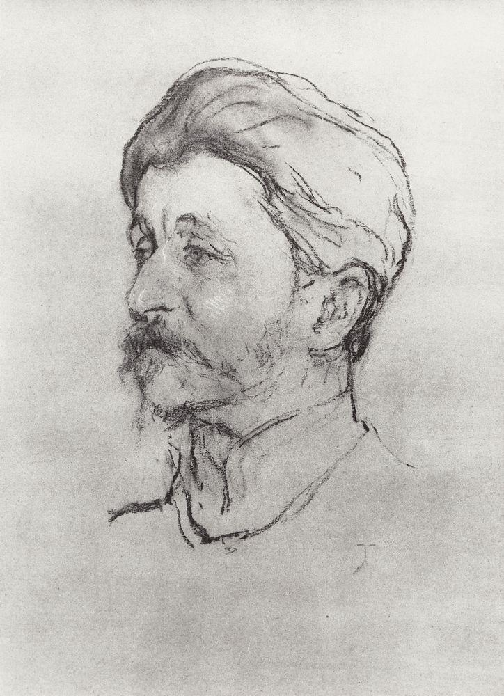 Portrait of the Artist M.A. Vrubel - Valentin Serov