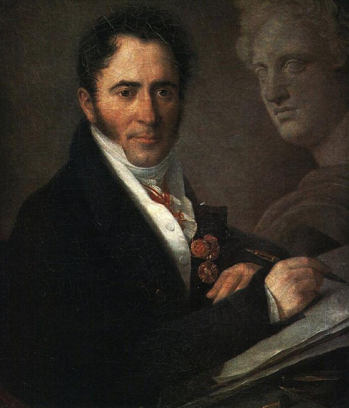 Portrait of the Artist N.I. Utkin with a Pencil - Vasily Tropinin