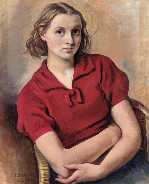 Portrait of the artist's daughter - Zinaida Serebriakova