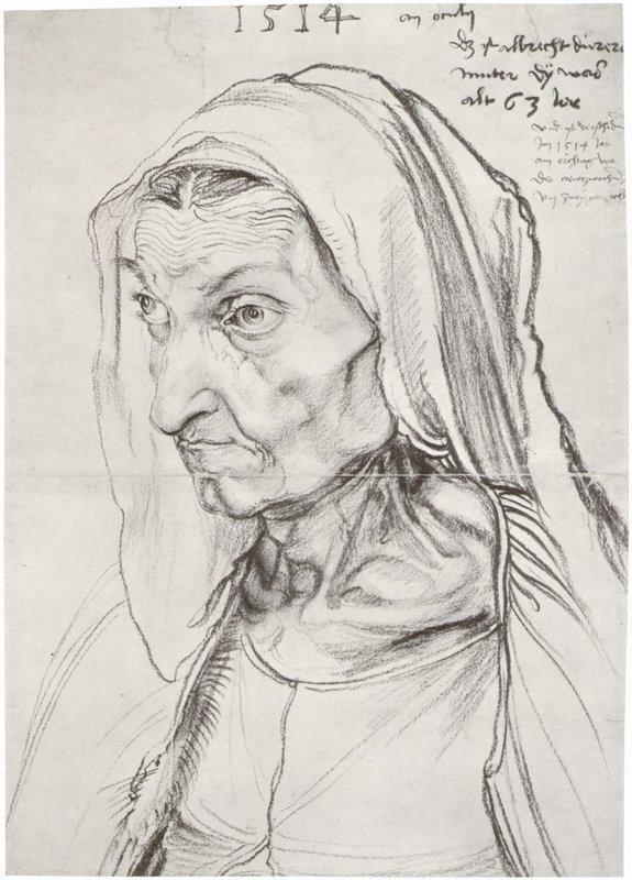 Portrait of the Artist's Mother  - Albrecht Durer