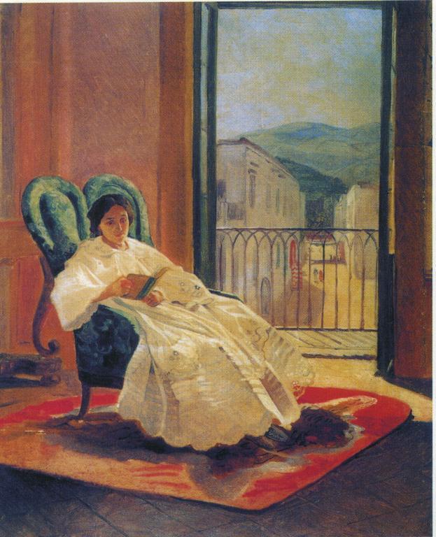Portrait of the Artist's Wife Anna Ge - Nikolai Ge