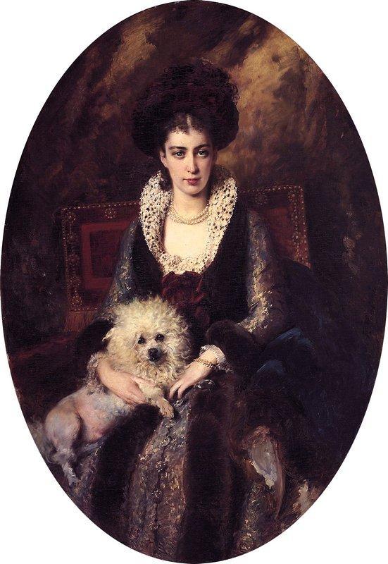 Portrait of the Artist's Wife - Konstantin Makovsky