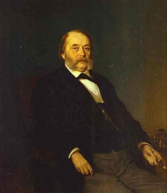 Portrait of the Author Ivan Goncharov - Ivan Kramskoy