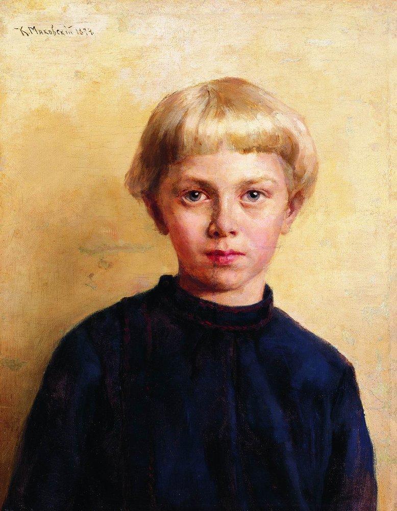 Portrait of the Boy - Konstantin Makovsky