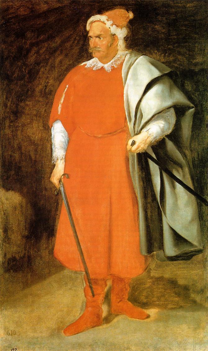 Portrait of the Buffoon 'Redbeard', Cristobal de Castaneda - Diego Velazquez