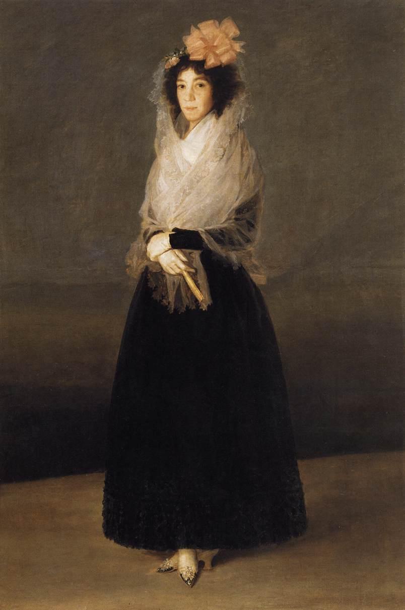 Portrait of the Countess of Carpio, Marquesa de la Solana - Francisco Goya