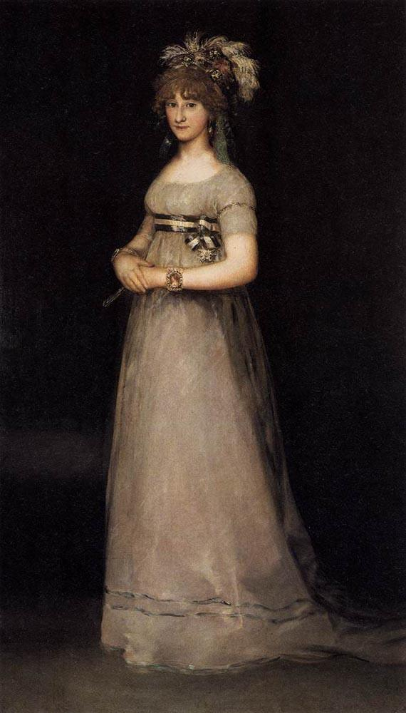 Portrait of the Countess of Chincon - Francisco Goya